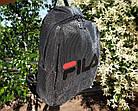 Женский рюкзак черного цвета, полиэстер+люрекс+напыление+эко-кожа, под бренд, фото 8