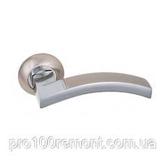 Ручка дверная на розетке NEW KEDR R10.065-AL-SN/CP