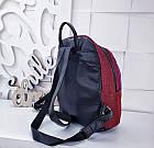 Женский рюкзак красного цвета, полиэстер+люрекс+напыление+эко-кожа, под бренд, фото 4