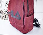 Женский рюкзак красного цвета, полиэстер+люрекс+напыление+эко-кожа, под бренд, фото 7