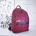 Женский рюкзак красного цвета, полиэстер+люрекс+напыление+эко-кожа, под бренд, фото 9