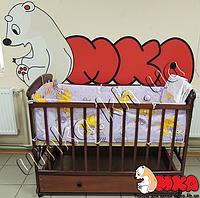 Детское постельное белье 4 в 1 фиолетовый