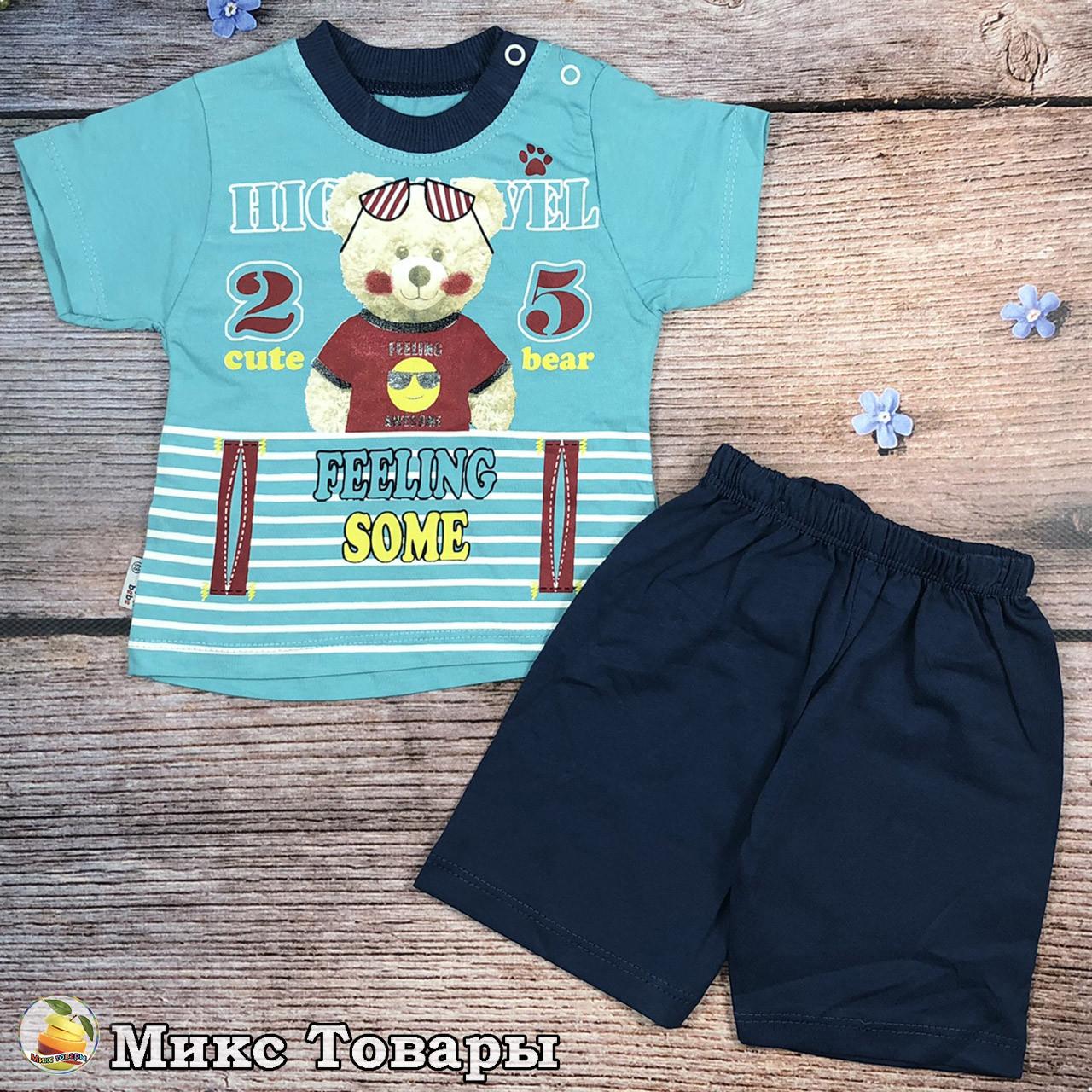 Летний костюм для маленького мальчика Размеры: 6,9,12,18 месяцев (8627-1)