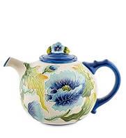 """Фарфоровый заварочный чайник """"Голубые маки"""" (Pavone)"""