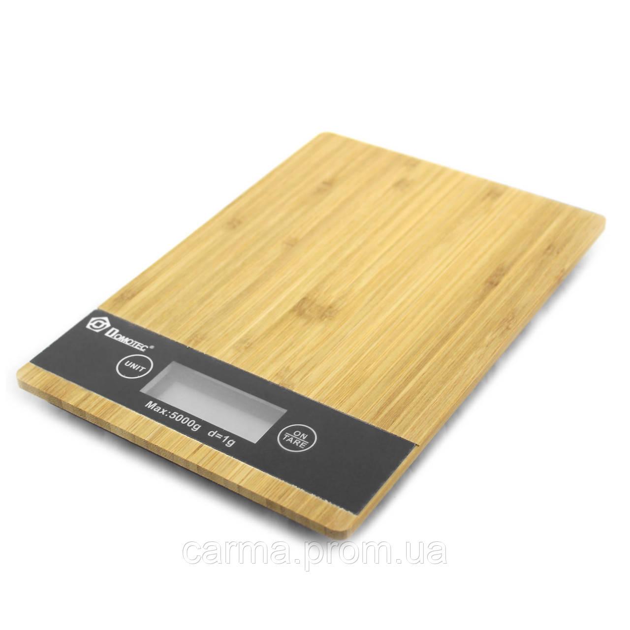 Весы кухонные Domotec MS A Wood