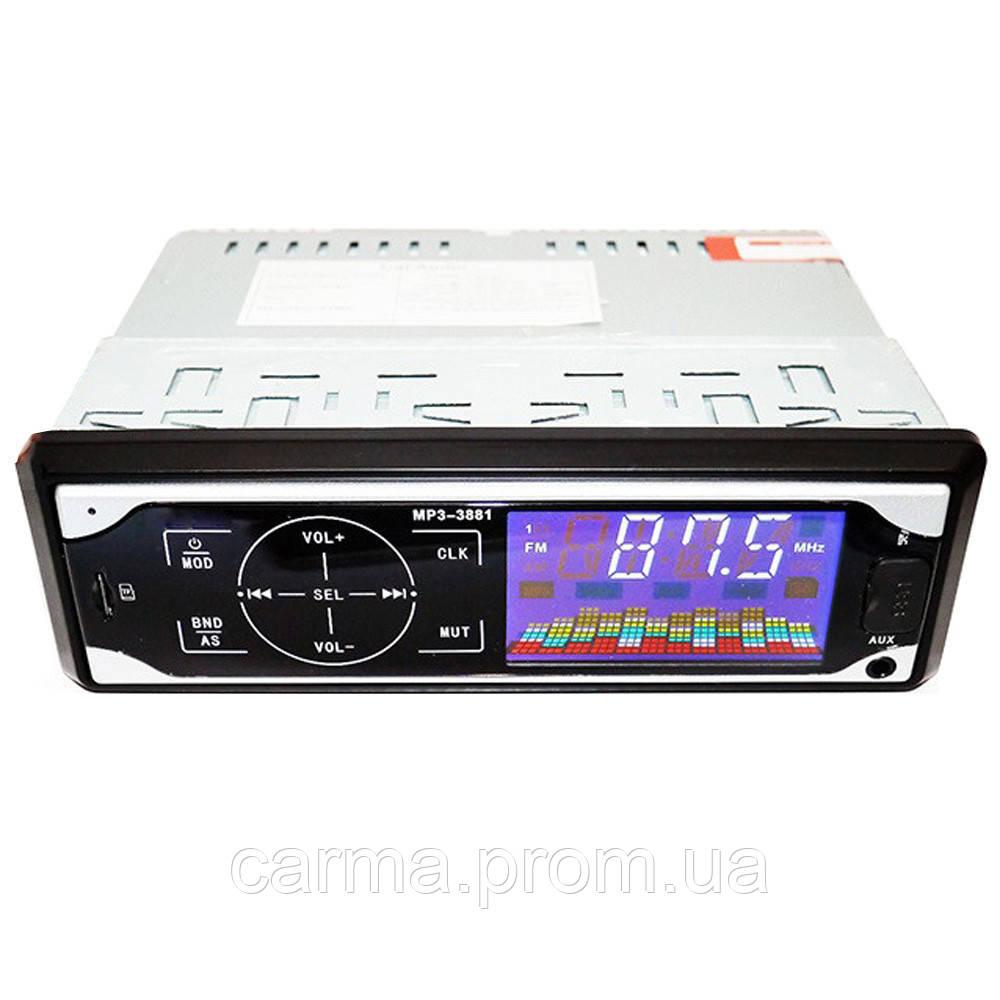 Сенсорная автомагнитола SVN MP3 3881 ISO 1DIN сенсор