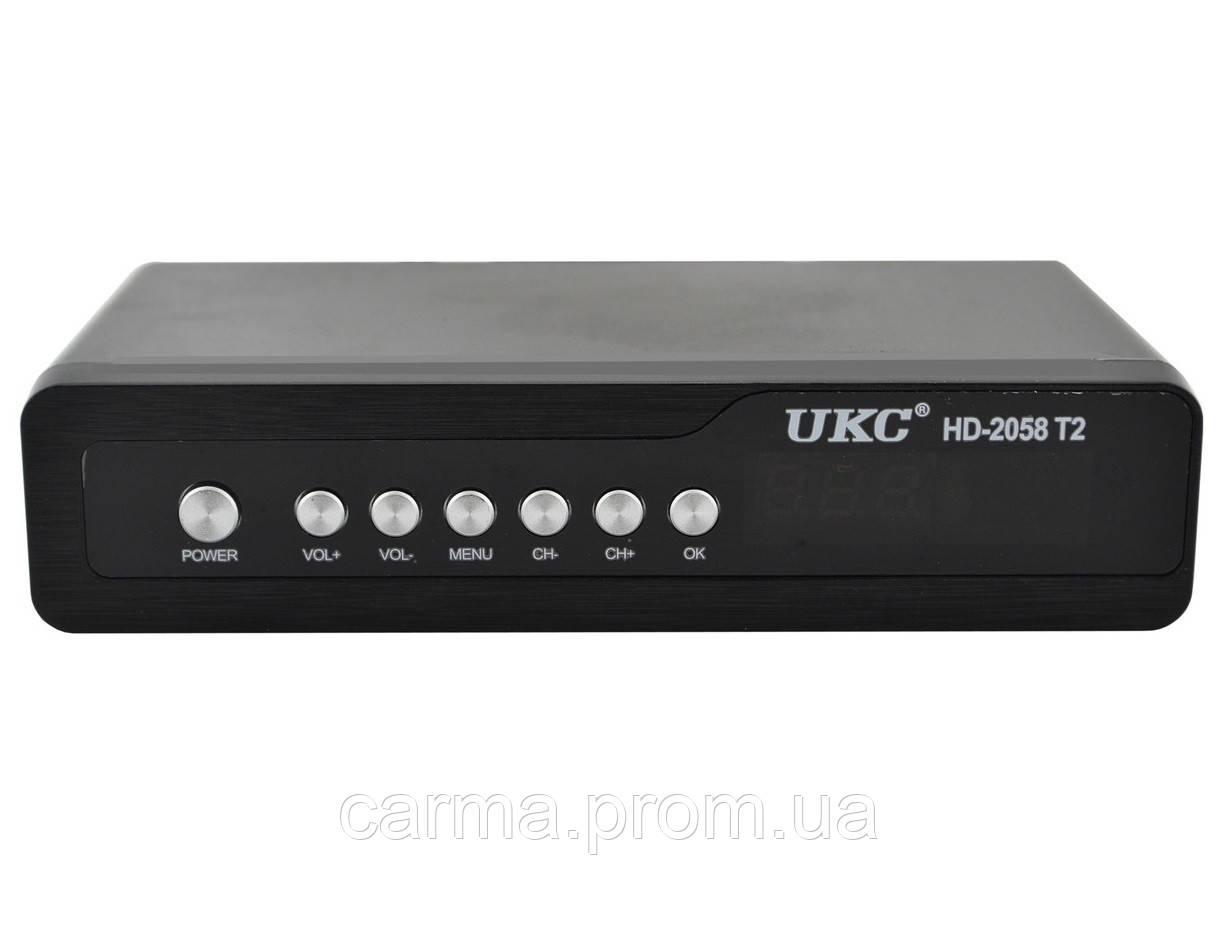 Цифровой эфирный ресивер тюнер UKC DVB-T2 2058