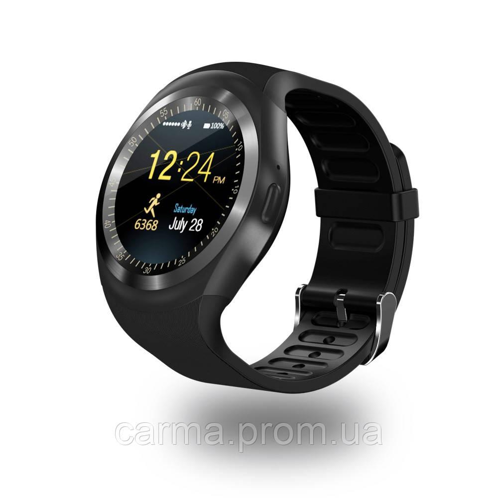Смарт-часы умные со слотом под SIM карту Smart Watch Y1S Черные