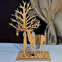 Подставка под украшения  Олень Улль с деревом