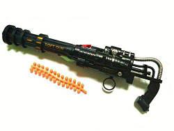 Игрушечный пулемет (оружие) с пульками  sco