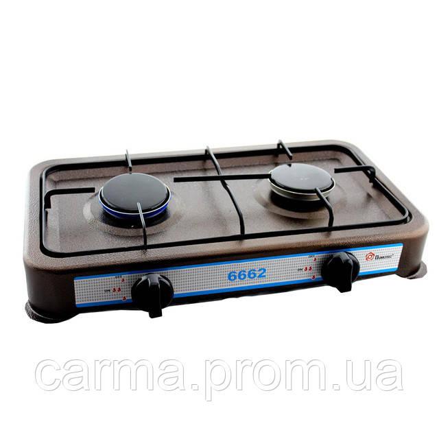 Газовая плита настольная таганок Domotec MS-6662 Коричневая