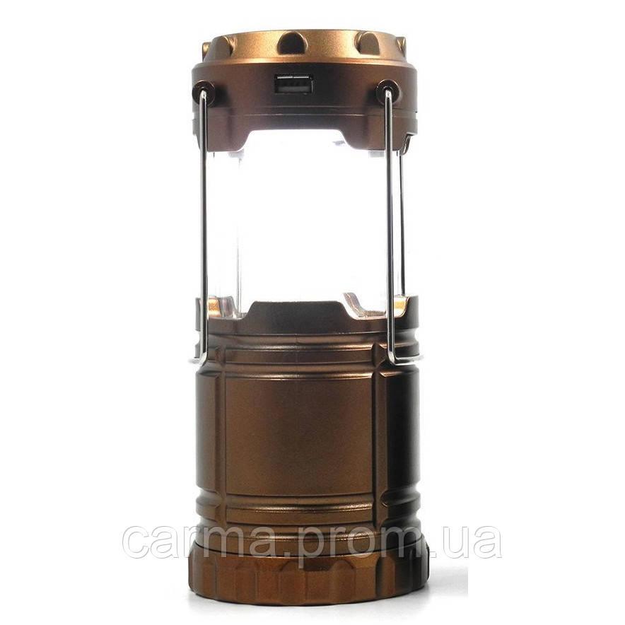 Туристический фонарь-лампа на солнечной батарее CAMPING G85 Бронзовый
