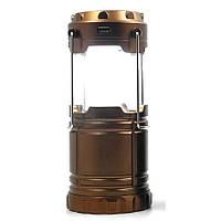 Туристический фонарь-лампа на солнечной батарее CAMPING G85 Бронзовый, фото 1