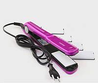 Щипцы для волос MAGIO MG-175P с насадками для гофре Фиолетовый