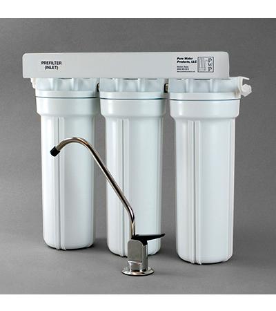 фотография Тройной проточный фильтр для воды