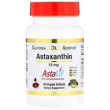 "Астаксантин California GOLD Nutrition ""Astaxanthin"" 12 мг (30 гелевых капсул)"