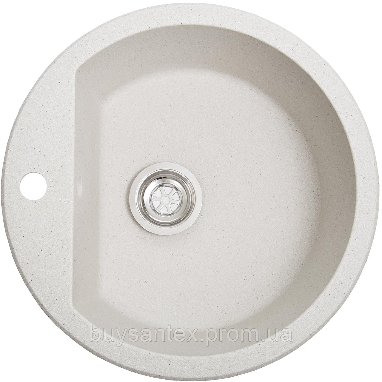 Кухонная мойка Cora - Aurora белый с точками