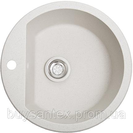Кухонная мойка Cora - Aurora белый с точками, фото 2
