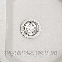 Кухонная мойка Cora - Aurora белый с точками, фото 3