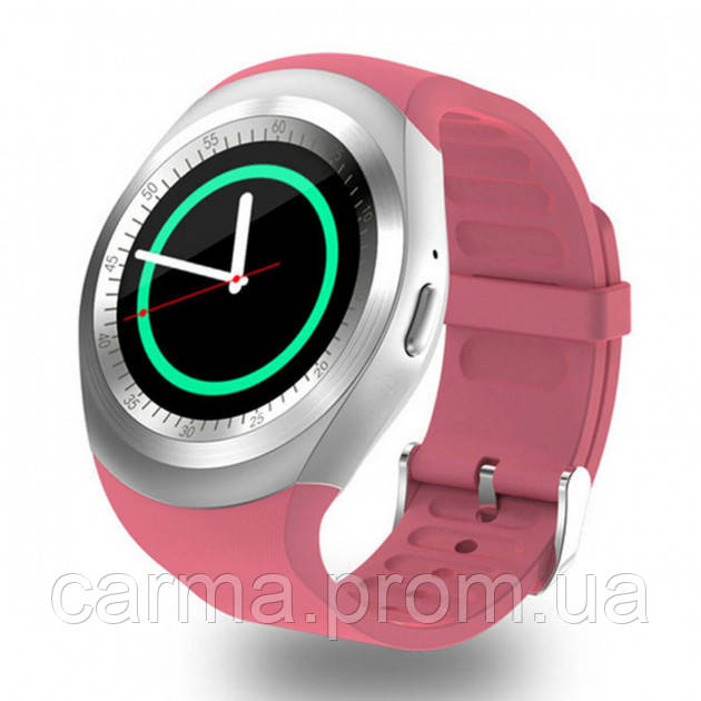 Смарт-часы умные со слотом под SIM карту Smart Watch Y1S Розовые