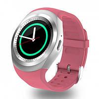 Смарт-часы умные со слотом под SIM карту Smart Watch Y1S Розовые, фото 1