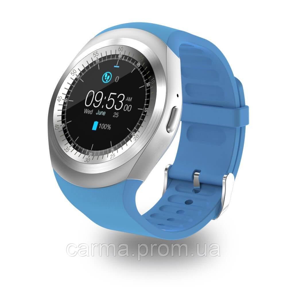 Смарт-часы умные со слотом под SIM карту Smart Watch Y1S Голубой
