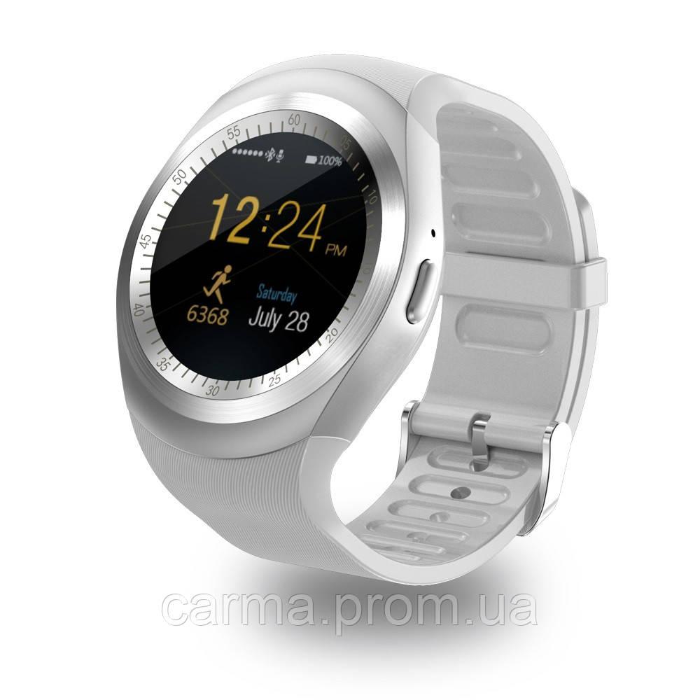 Смарт-часы умные со слотом под SIM карту Smart Watch Y1S Белые