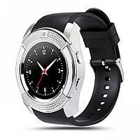 Смарт-часы умные Smart Watch V8 Черные с серебристым, фото 1