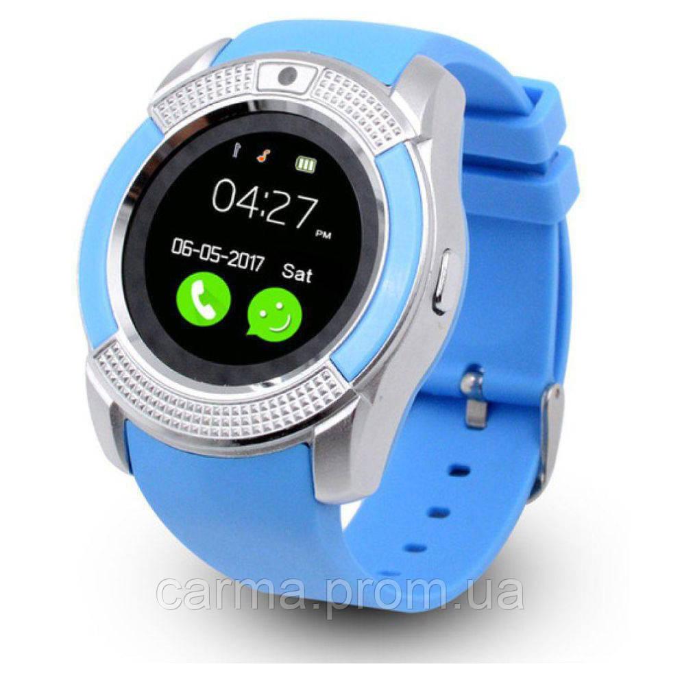 Смарт-часы умные Smart Watch V8 Голубые