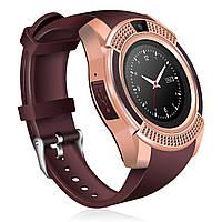Смарт-часы умные Smart Watch V8 Коричневые, фото 1