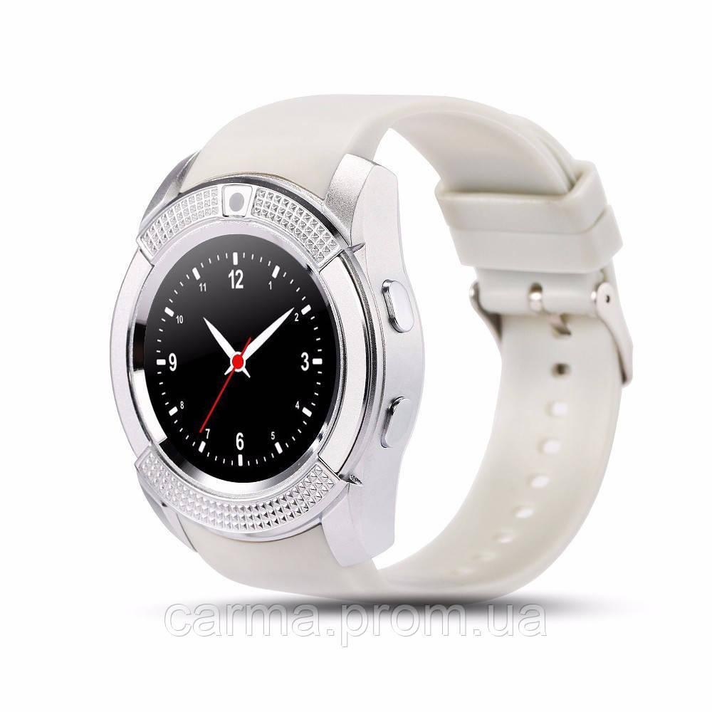 Смарт-часы умные Smart Watch V8 Белые