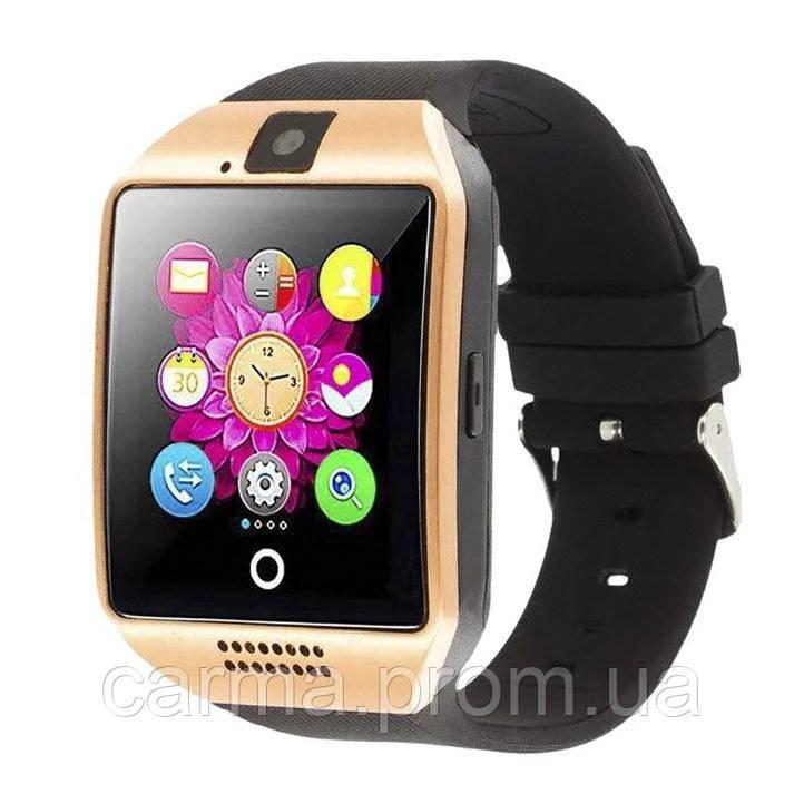 Смарт-часы умные Smart Watch Q18 Черный с золотым