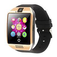 Смарт-часы умные Smart Watch Q18 Черный с золотым, фото 1