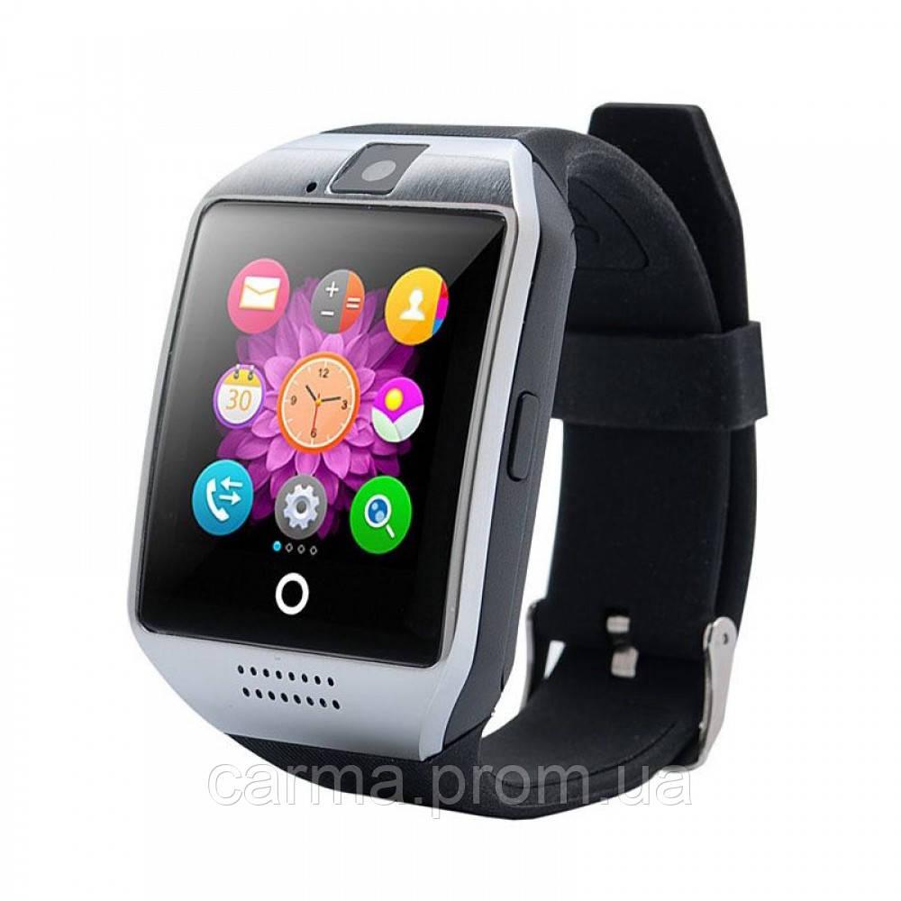 Смарт-часы умные Smart Watch Q18 Черный с серебряным