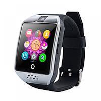 Смарт-часы умные Smart Watch Q18 Черный с серебряным, фото 1