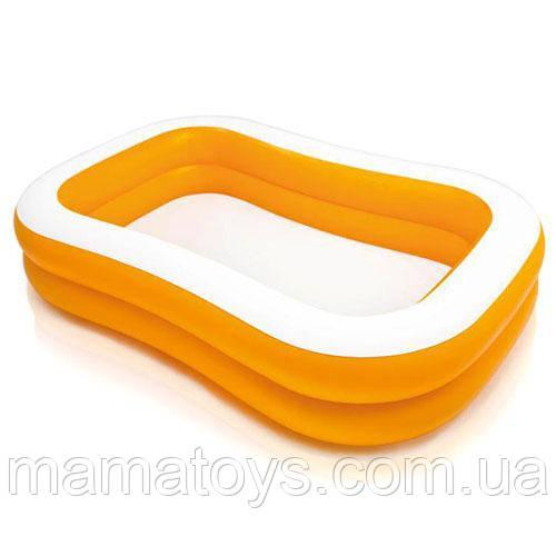 Детский Надувной бассейн 57181 Intex Мандарин, 229 х 147 х 46 см, оранжевый Интекс
