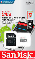 ✅ Карта пам'яті, Micro SD, 32 гб, карта пам'яті для телефону та фотоапарату, SanDisk Ultra