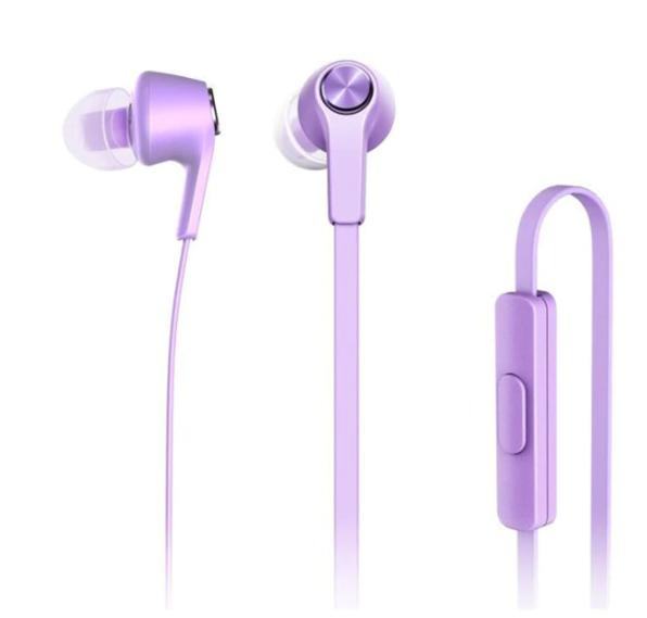 Original Xiaomi Mi Colorful version фирменные оригинальные наушники с микрофоном Цвет Фиолетовый Purple