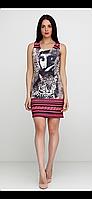 Стильное комбинированное платье с рисунком мини Save Style