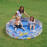 """Бассейн детский """"Подводный мир"""" Bestway (51004) 152-30 см, 3 кольца, ремкомплект"""