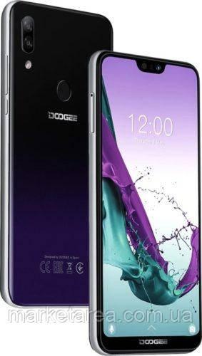 Смартфон фиолетовый с большим дисплеем и хорошей камерой на 2 сим карты Doogee N10 purple 3/32ГБ