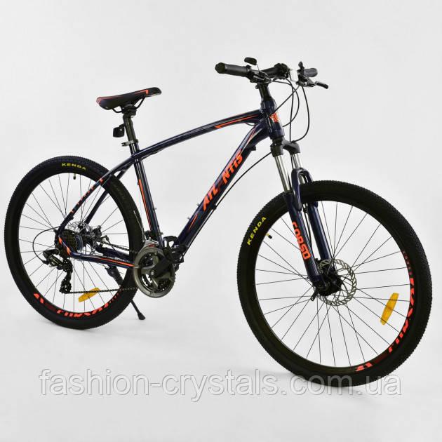 Спортивный велосипед Corso Atlantis 27.5  дюймов черный с оранжевым