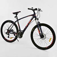 Спортивный велосипед Corso Atlantis 27.5  дюймов черный с оранжевым, фото 1