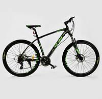 Спортивный велосипед Corso Atlantis 27.5  дюймов черный с салатовым, фото 1