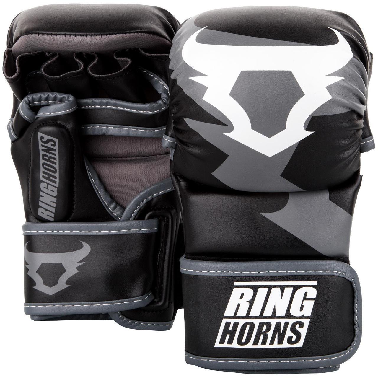 Перчатки ММА Sparring Ringhorns Charger Черные с белым
