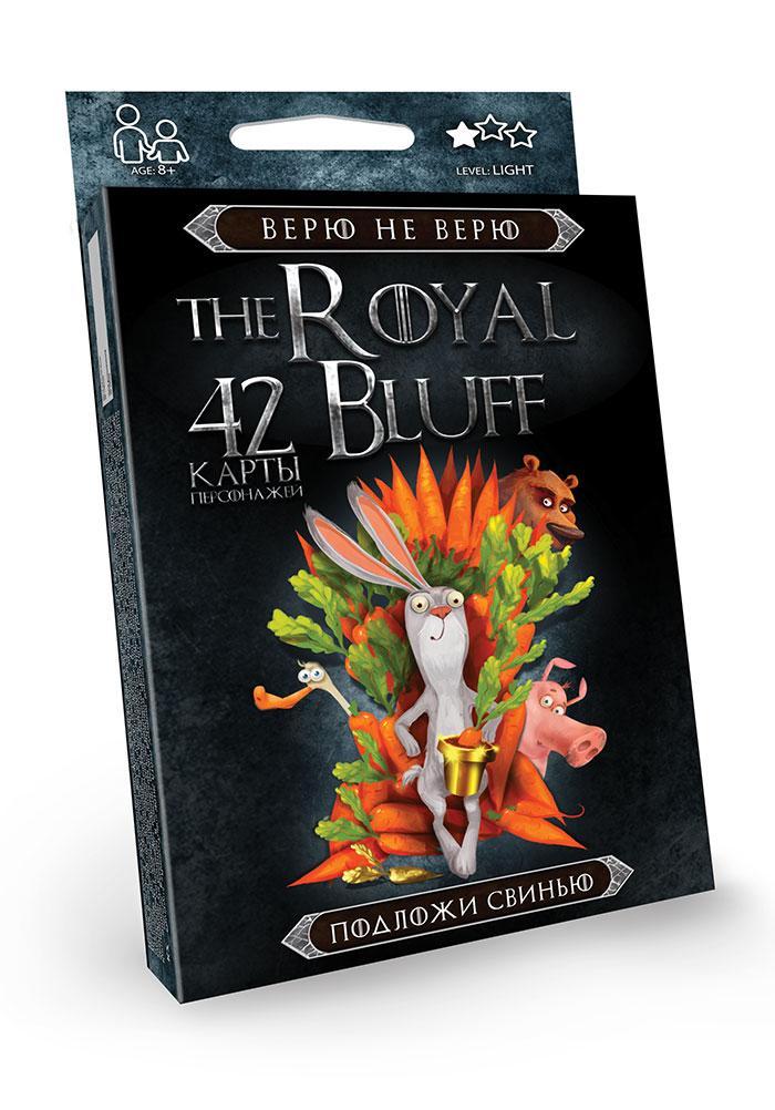 Карткова гра Danko Toys The royal bluff (Вірю не вірю, підклавши свиню) від 8 років (Укр) (RBL-01-01)