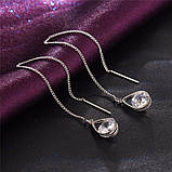 Серьги подвески Primo Cristall - Silver, фото 3