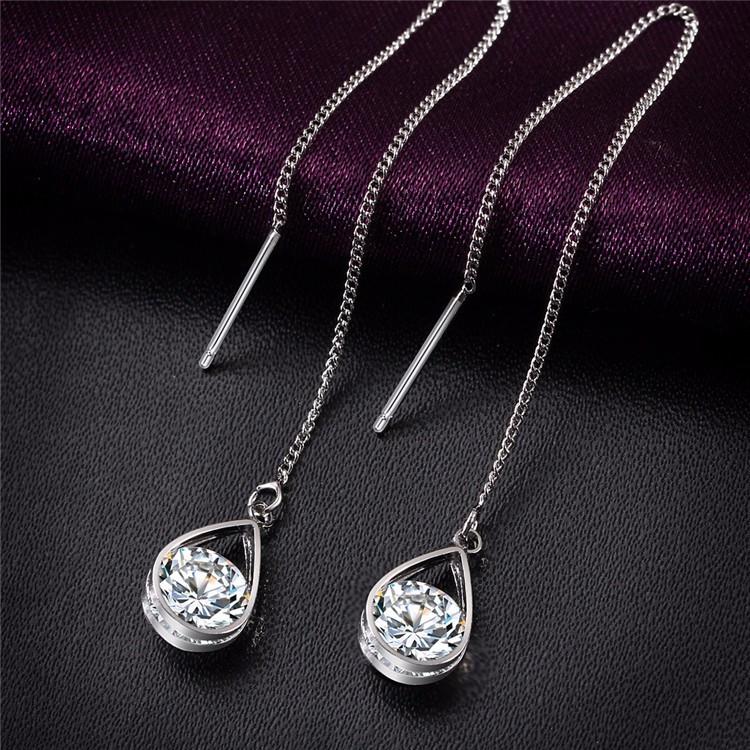 Серьги подвески Primo Cristall - Silver