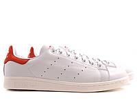 Женские кроссовки Adidas Stan Smith белые с красным, фото 1