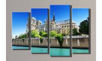"Модульная картина на холсте ""Notre-Dame de Pari"""